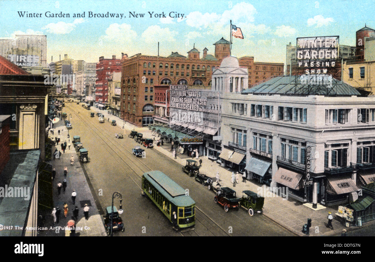 winter garden and broadway new york city new york usa 1916