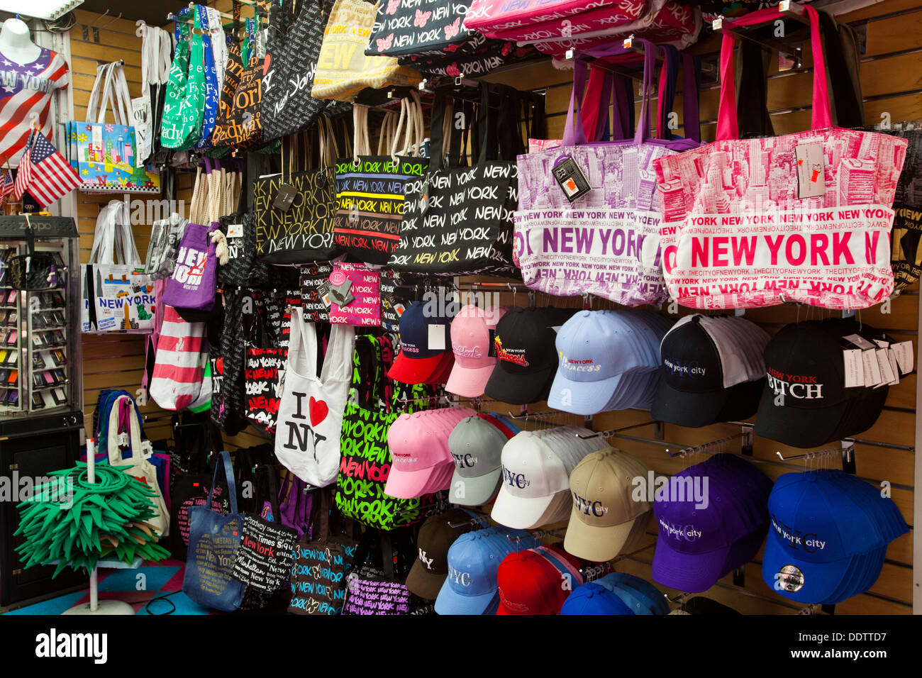 Shop America gift shop, manhattan, new york, united states of america stock