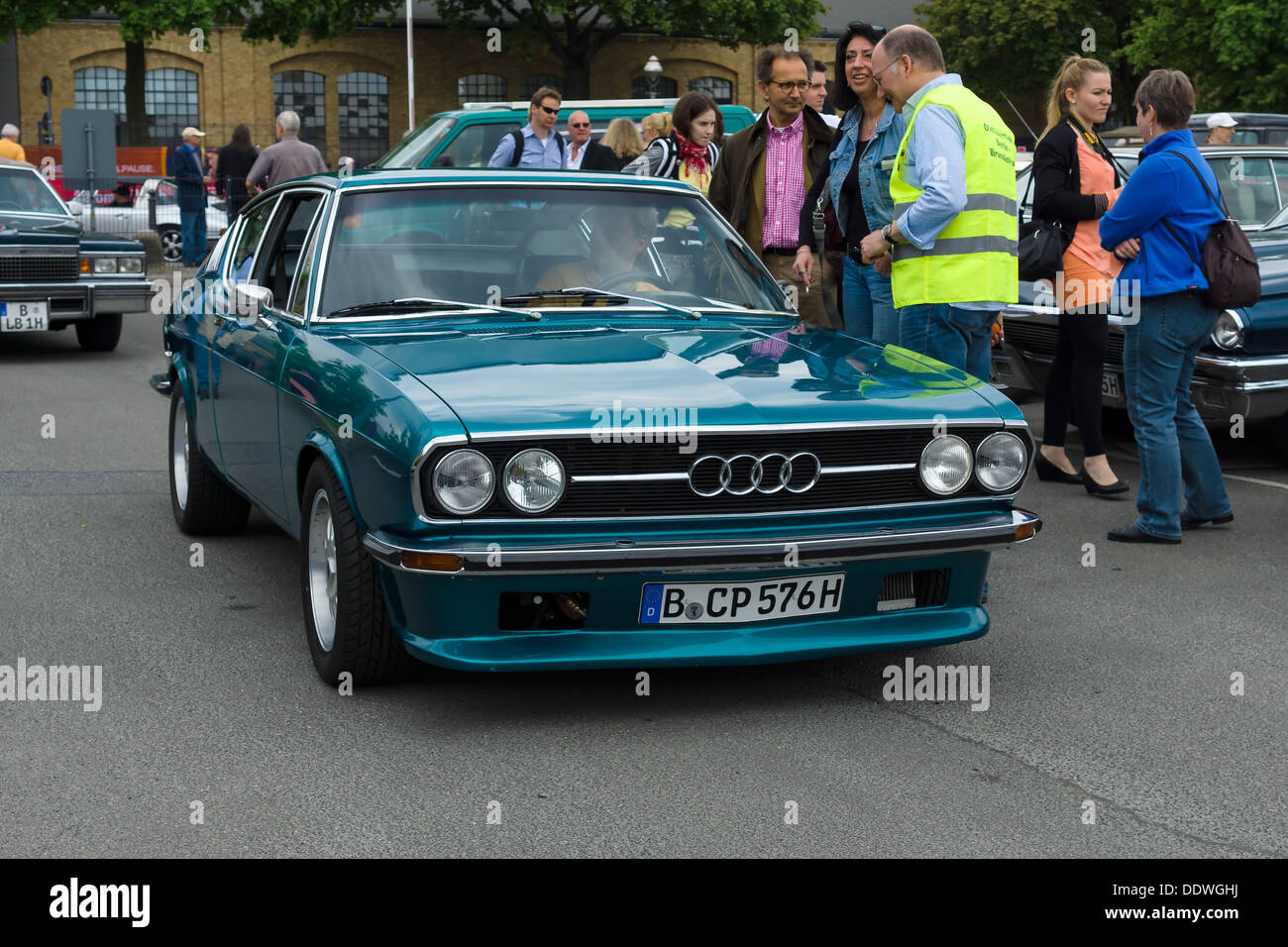berlin may 11 car audi 100 c1 coupe s 26th oldtimer tage stock photo royalty free image. Black Bedroom Furniture Sets. Home Design Ideas