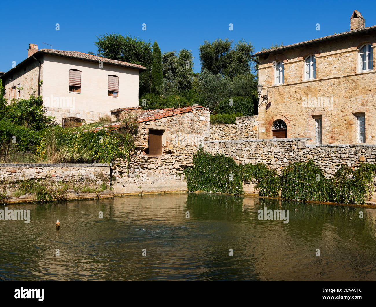 Bagni Vignone - hot water spa, Tuscany, Italy Stock Photo, Royalty ...