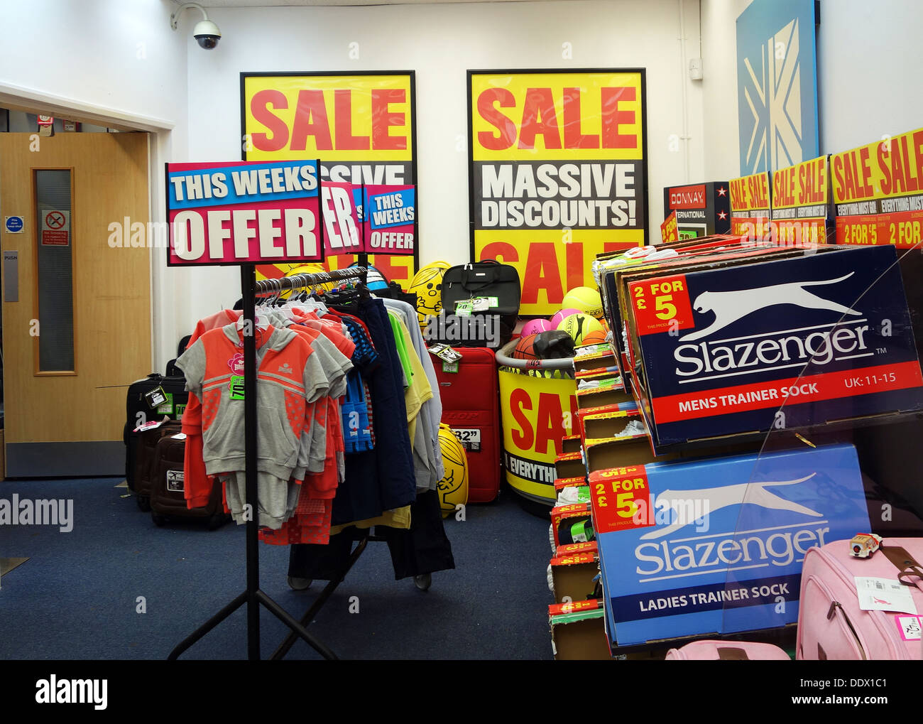 sale items in a sports direct store uk stock photo royalty free image 60193505 alamy. Black Bedroom Furniture Sets. Home Design Ideas