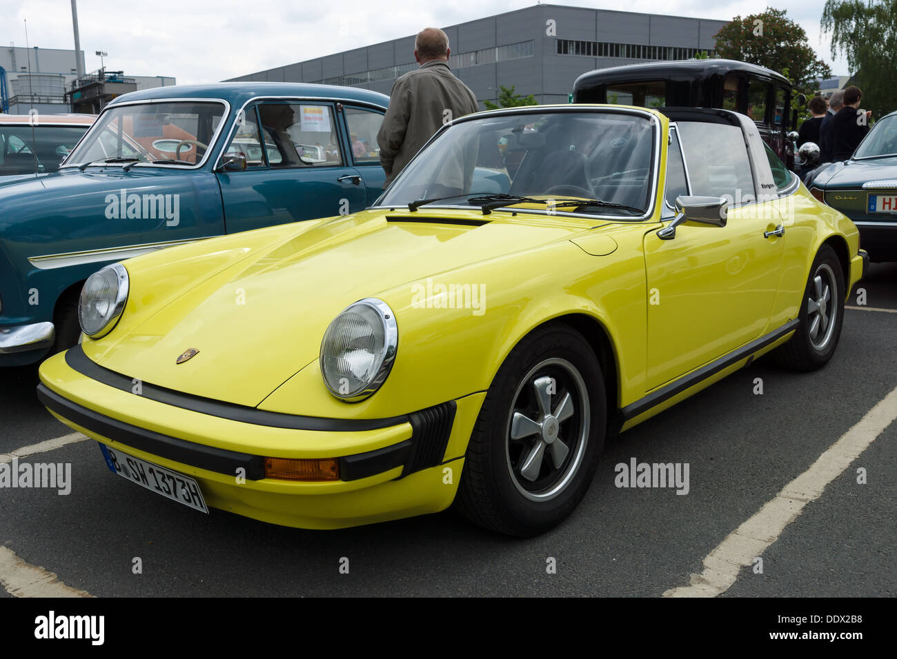 berlin germany may 11 the porsche 911 targa front view 26 stock photo royalty free image. Black Bedroom Furniture Sets. Home Design Ideas