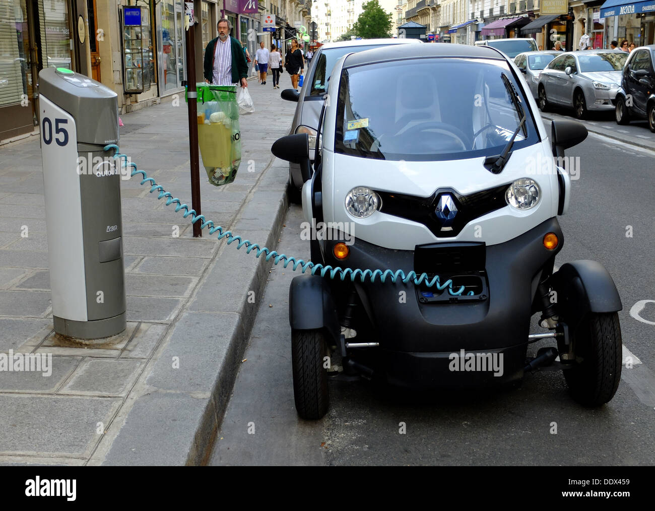 Renault Twizy At Load Terminal Electric Car Zero Emission Paris