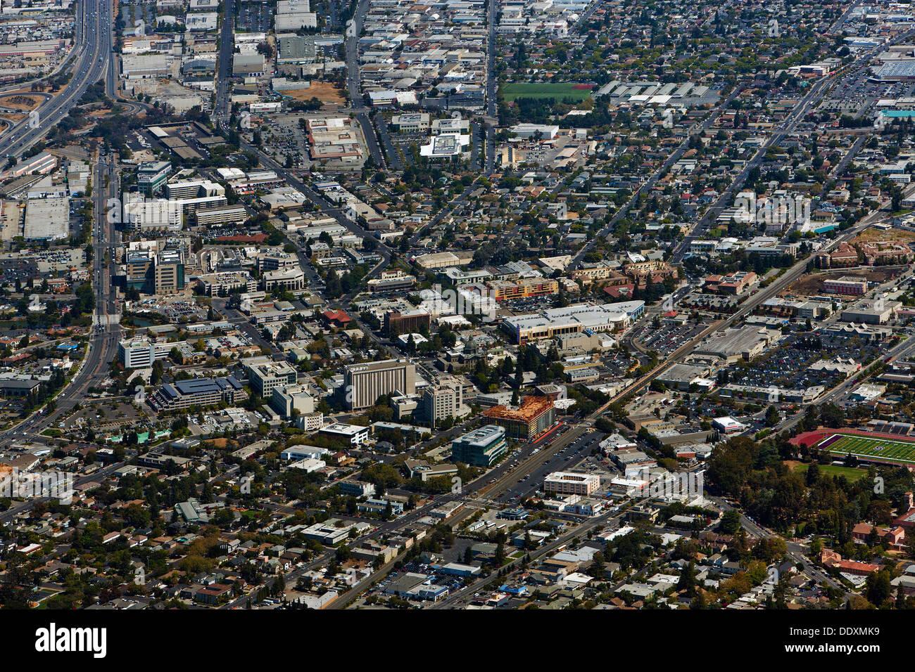 California san mateo county pescadero - Aerial Photograph Redwood City San Mateo County California Stock Image