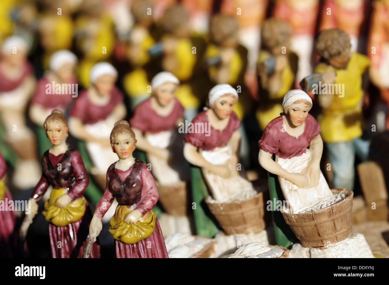 Used crib for sale in nj - Stock Photo Handmade Figures Used To Decorate Neapolitan Crib On Sale In A Shop Campania Italy