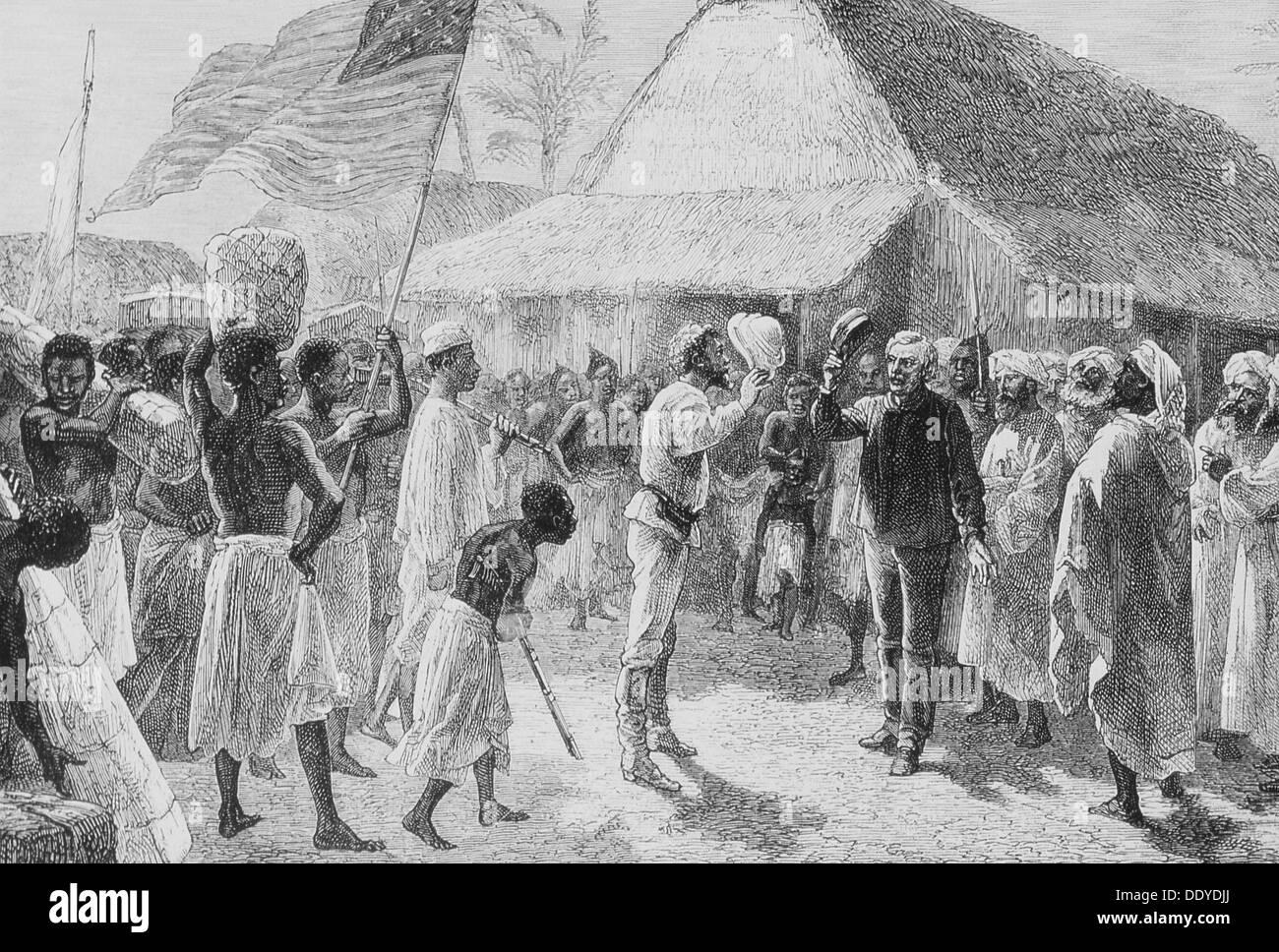Doctor Livingstone I Presume?, 1871. The Historic Meeting Between Henry  Morton Stanley (