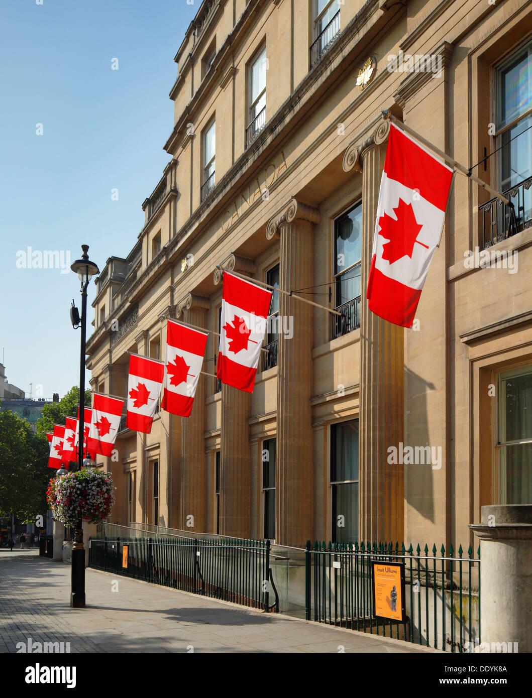 Canada House Trafalgar Square London Stock Photo
