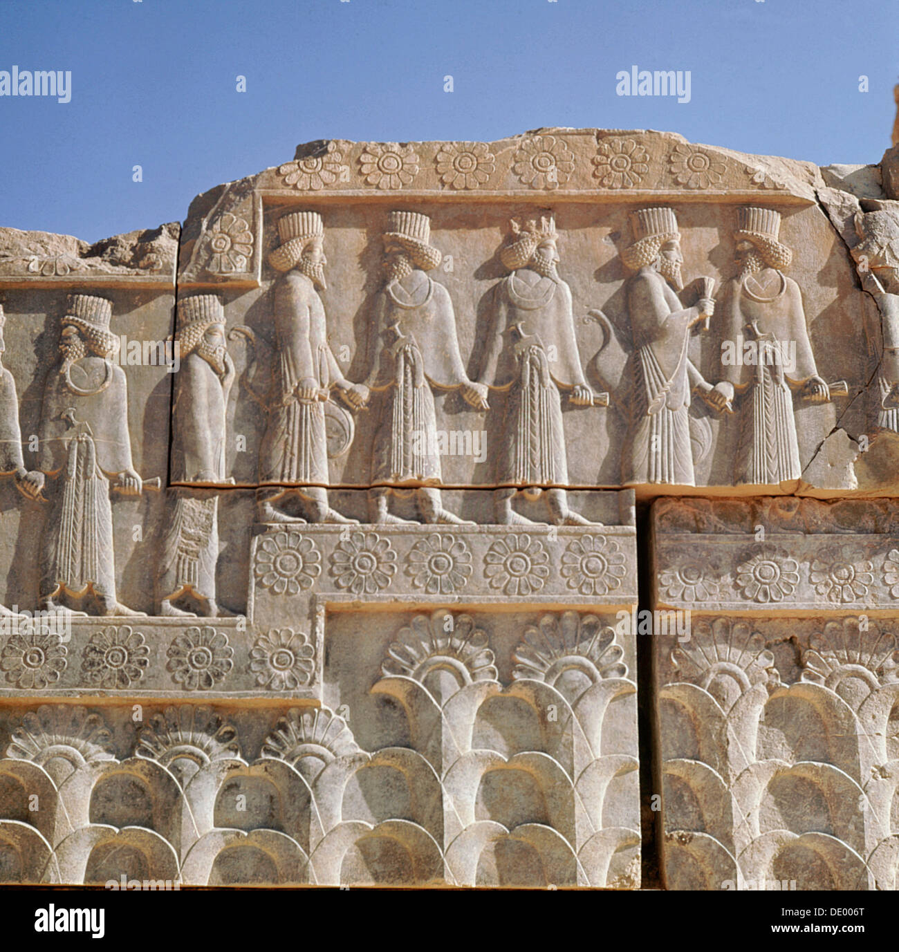 Relief carving ruins of the ancient persian city