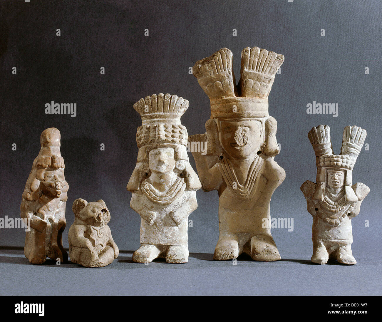 Models of Aztec gods from household shrines, Mexico ...