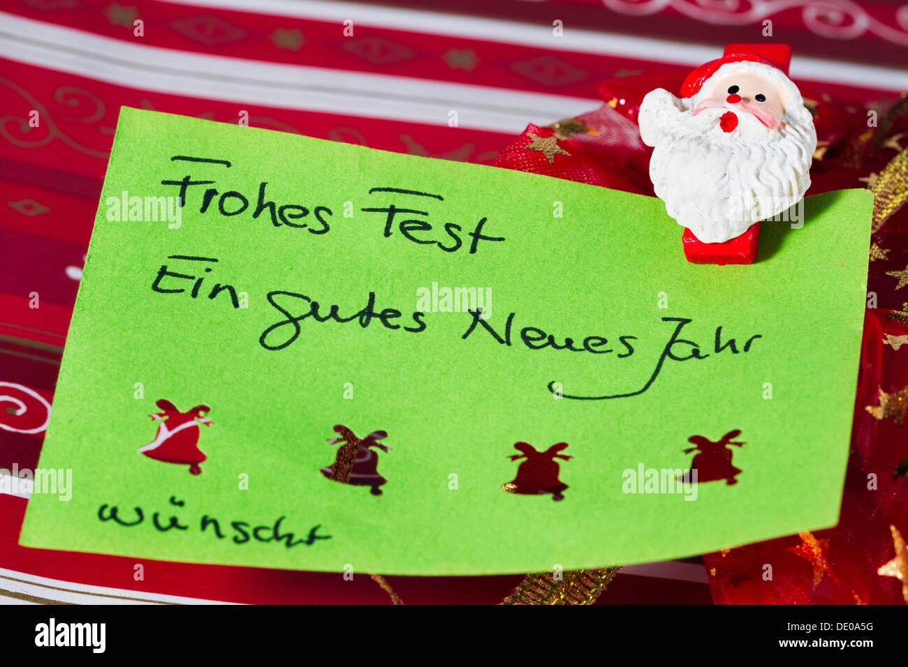 German new year greetings stock photos german new year greetings christmas greeting card frohes fest ein gutes neues jahr german for merry christmas kristyandbryce Images