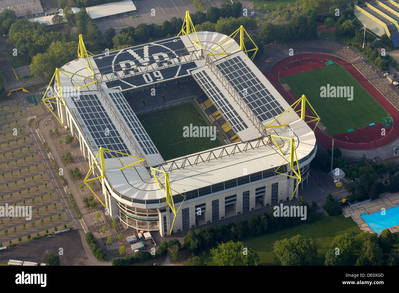 aerial view signaliduna park stadium signal iduna park stadium stock photo royalty free image. Black Bedroom Furniture Sets. Home Design Ideas
