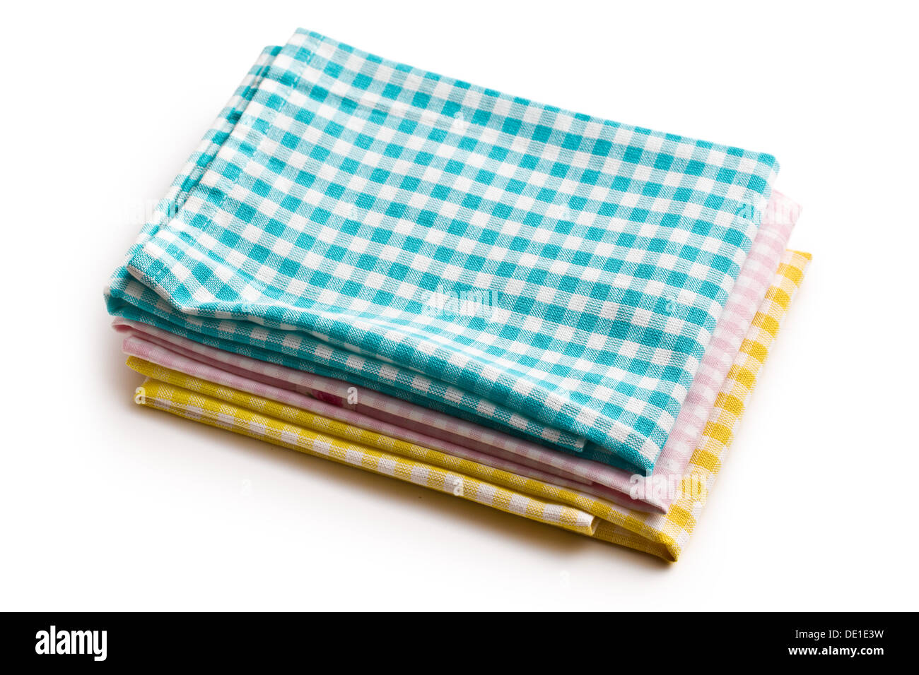 various teal kitchen. Various Kitchen Towels On White Background Teal
