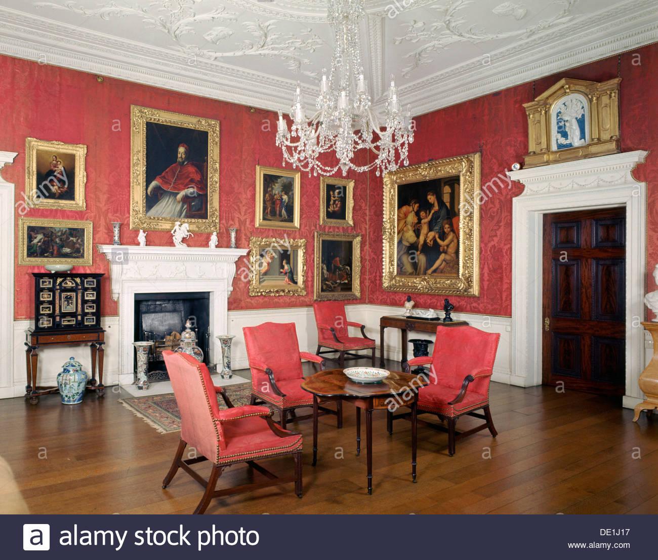 Interior Corsham Court Wiltshire Artist J Litten