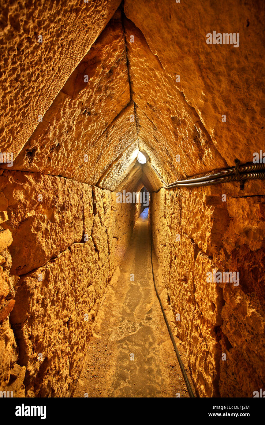 The ancient Tunnel of Eupalinos (or