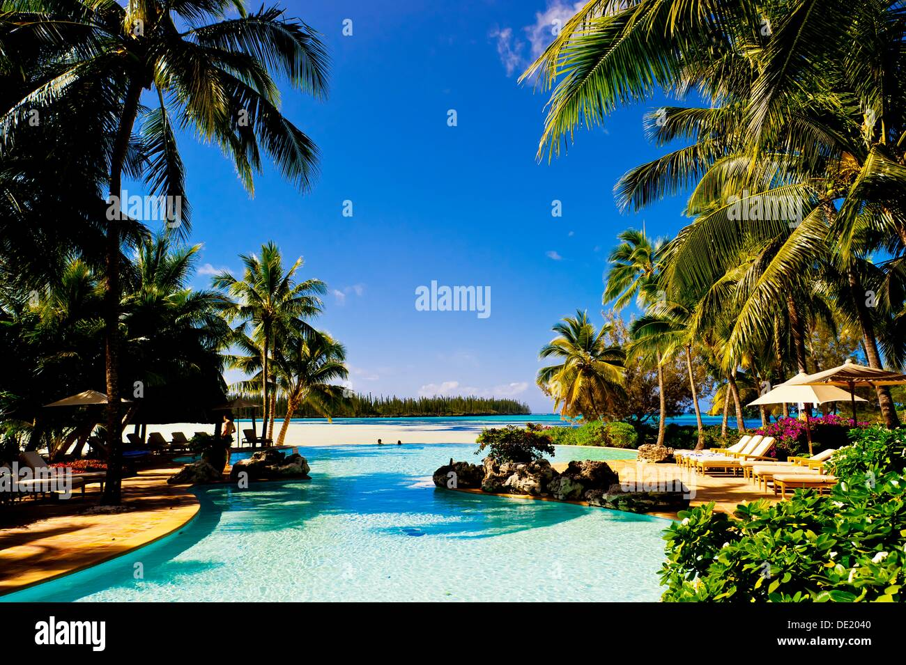 the le meridien isle of pines resort hotel baie d 180 oro oro bay stock photo royalty free