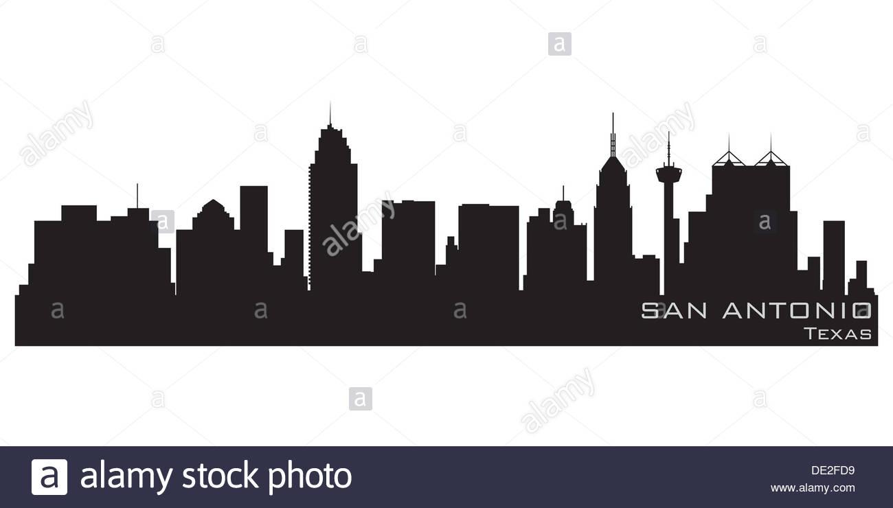 Skyline silhouette white