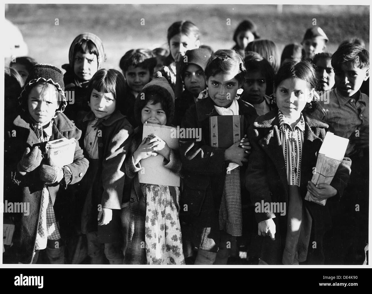 New mexico taos county penasco - Stock Photo Taos County New Mexico Grade School Children In Schoolyard 521833