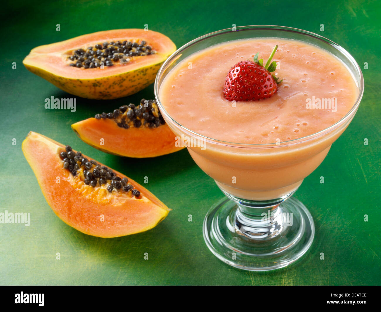 Papaya smoothie tropical fruit cold drinks Stock Photo, Royalty Free ...