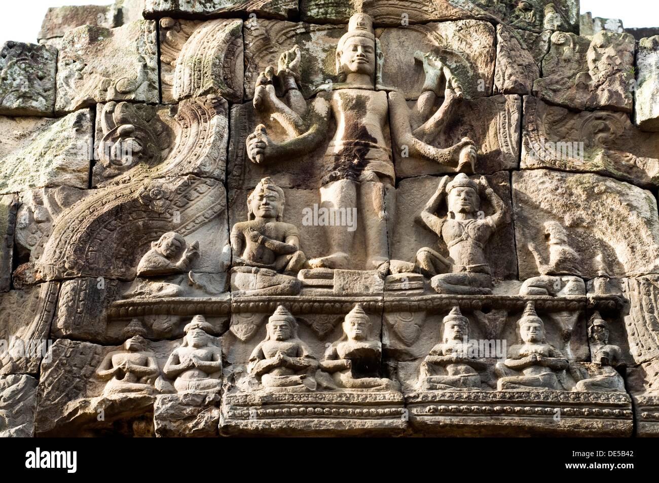 Takeo Cambodia  City pictures : Ta Prohm Temple Ruins, Tonle Bati, Takeo, Cambodia Stock Photo ...