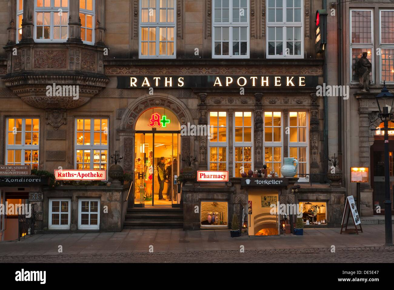 Pharmacy inside a historic building in bremen germany europe stock photo royalty free image - Inside mobel bremen ...