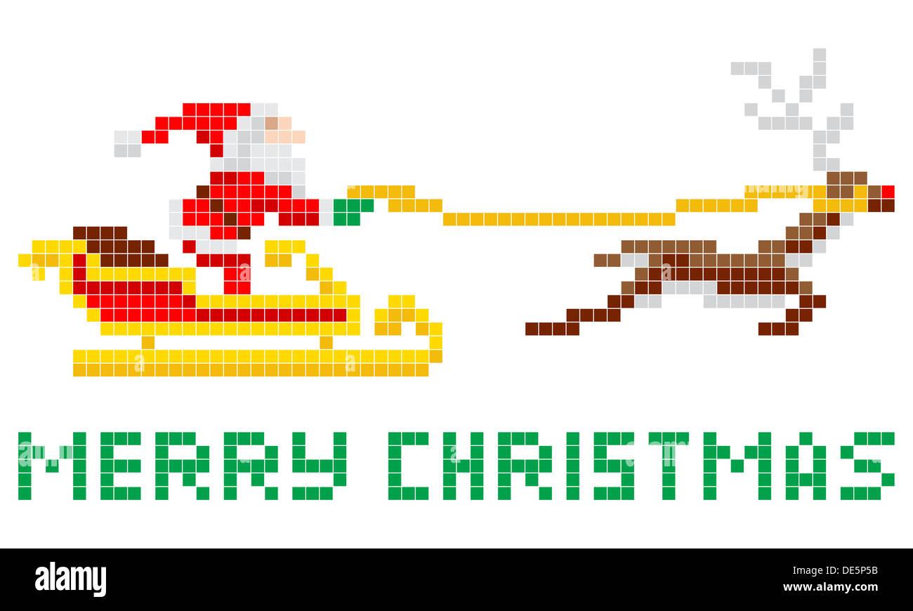 Vintage Arcade Games >> Retro 8-bit arcade video game style pixel art Christmas ...