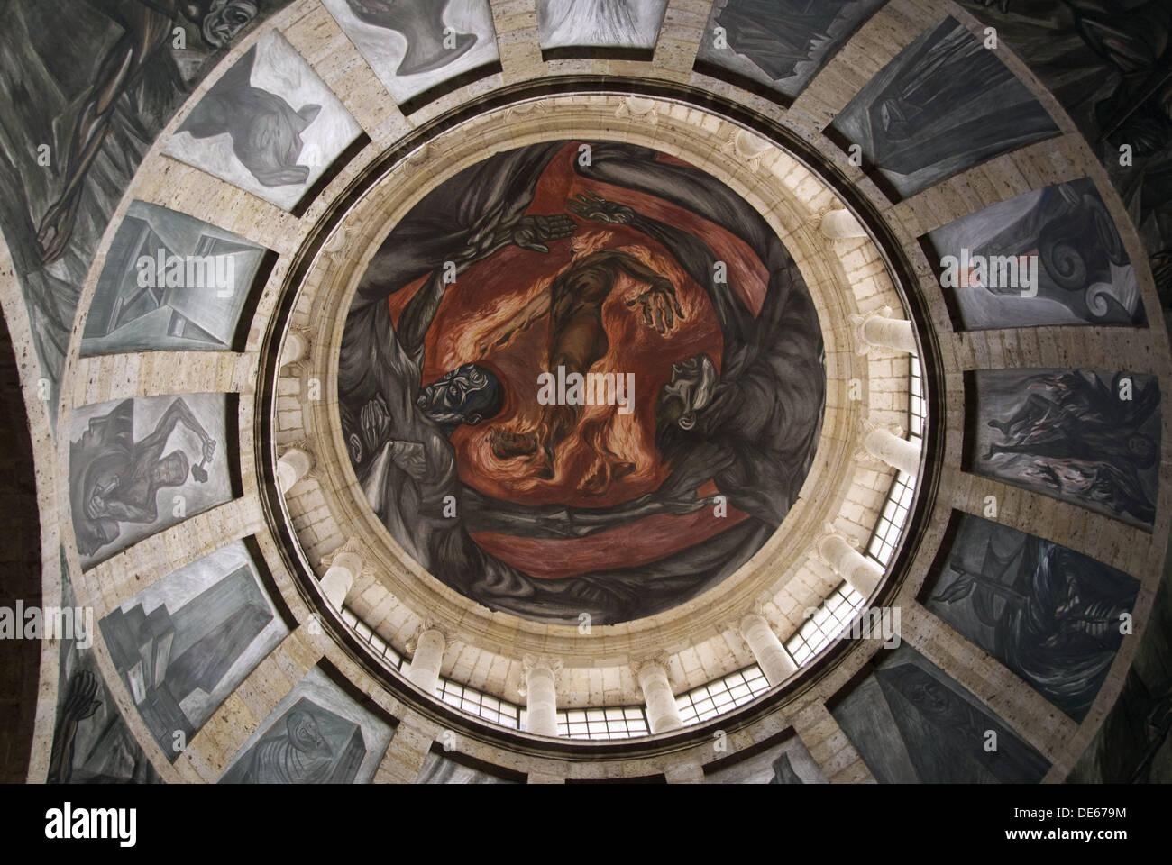 El hombre de fuego man of fire jose clemente orozco s for El hombre de fuego mural de jose clemente orozco