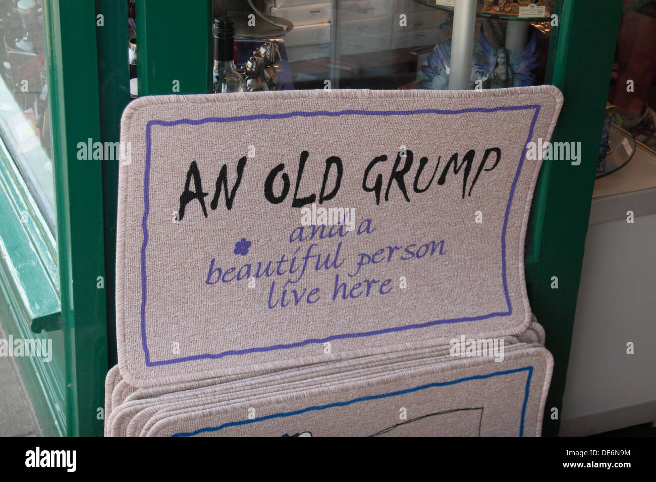 Amusing Front Door Mat For Sale Outside A Shop In Lyndhurst, New Forest, UK