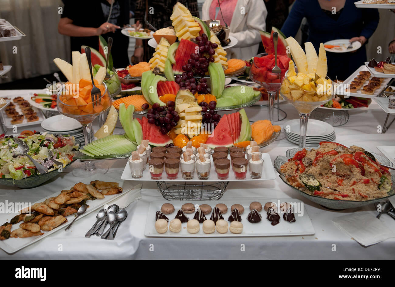 buffet at an upmarket engagement party stock photo royalty free image 60392145 alamy. Black Bedroom Furniture Sets. Home Design Ideas