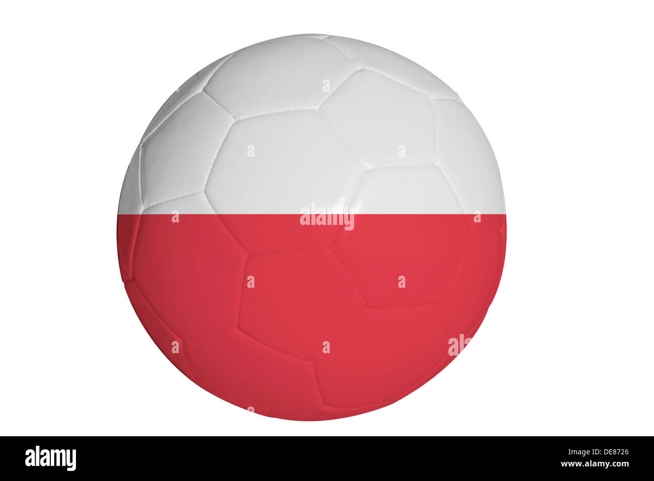 polish flag graphic on soccer ball stock photo royalty free image