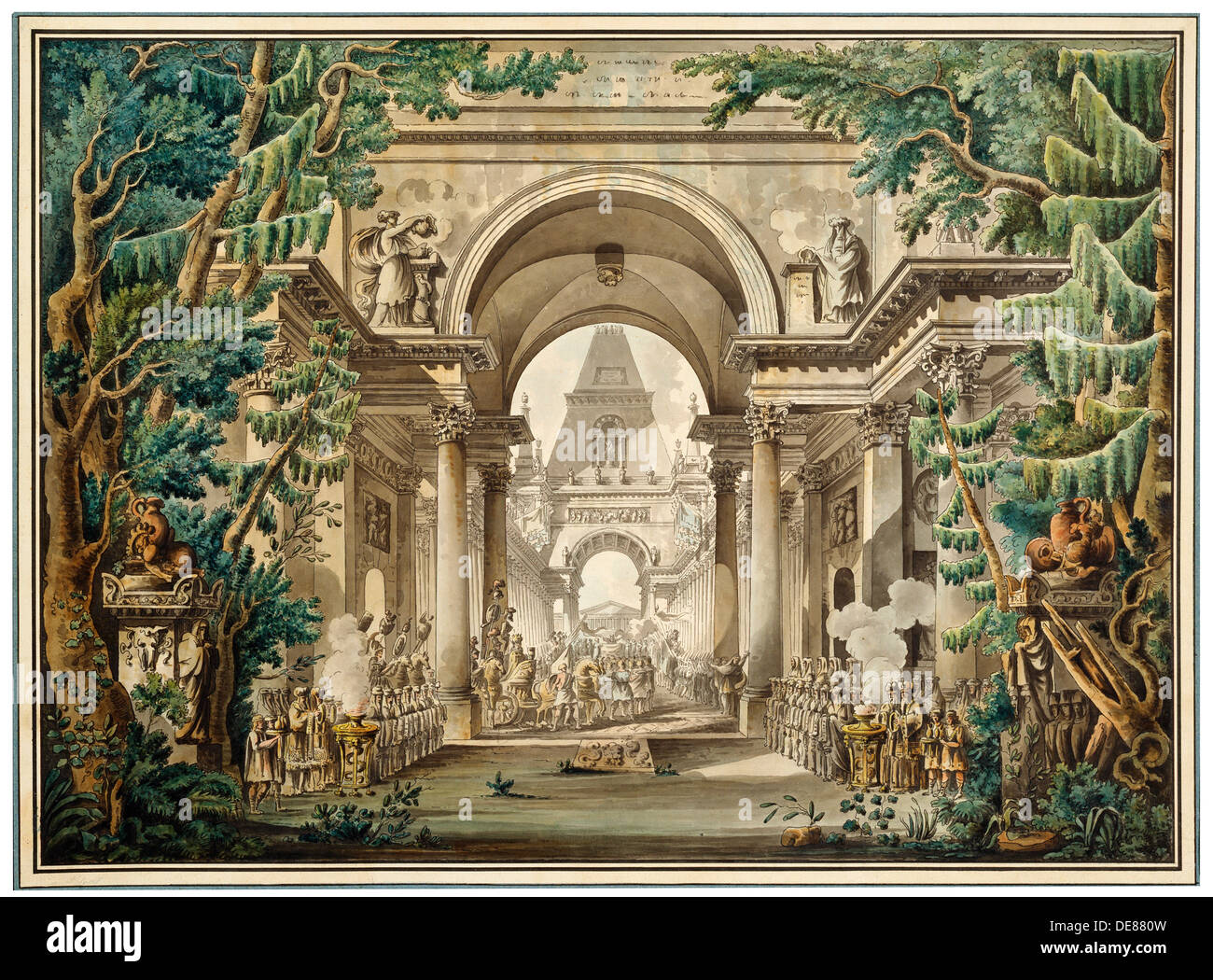 18th century theatre Eighteenth century prints show what stage décors looked like at the time in that  century, stage designers used standard décors for the wings, for example 'the.