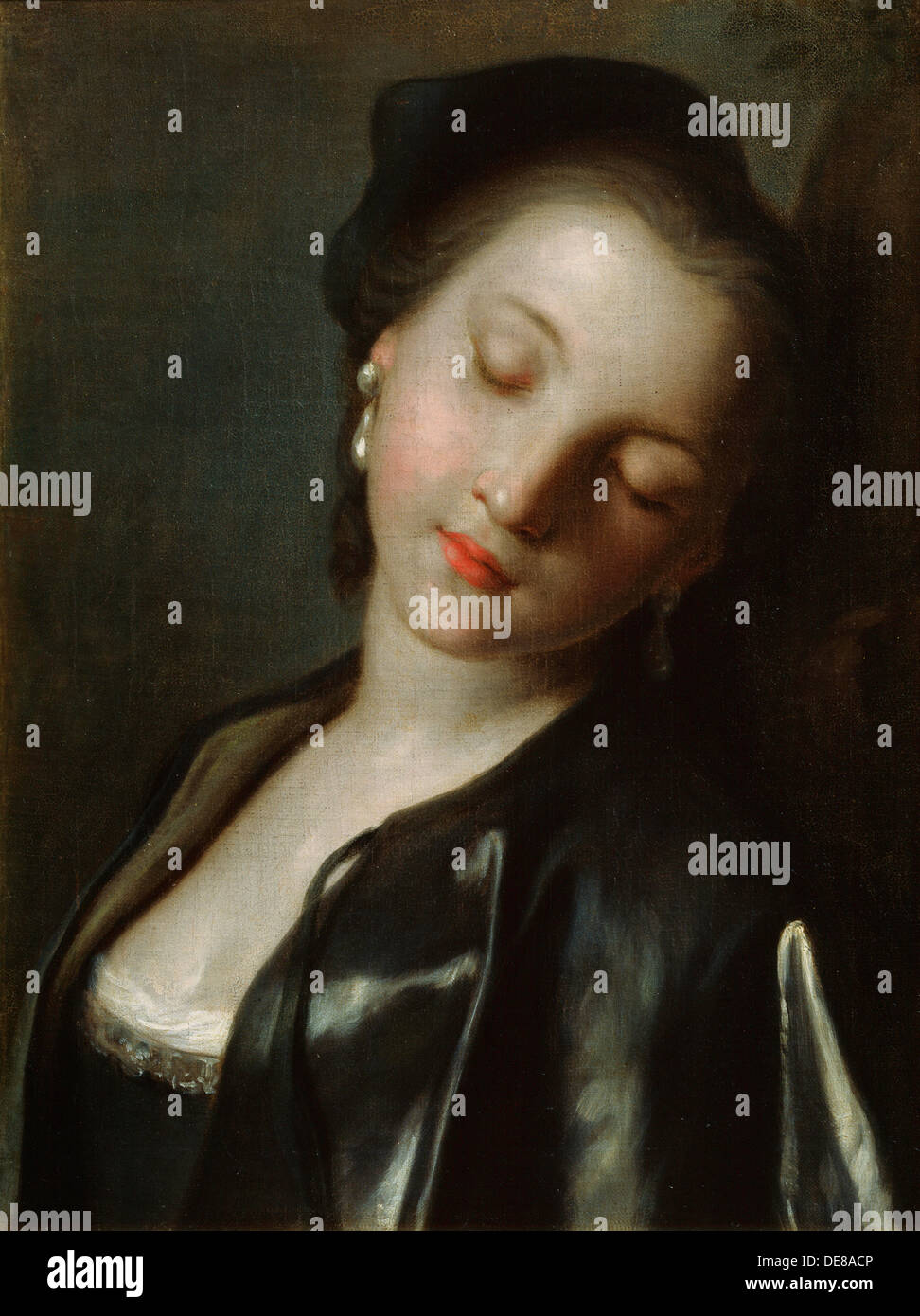 sleeping young w mid th century artist pietro rotari   sleeping young w mid 18th century artist pietro rotari