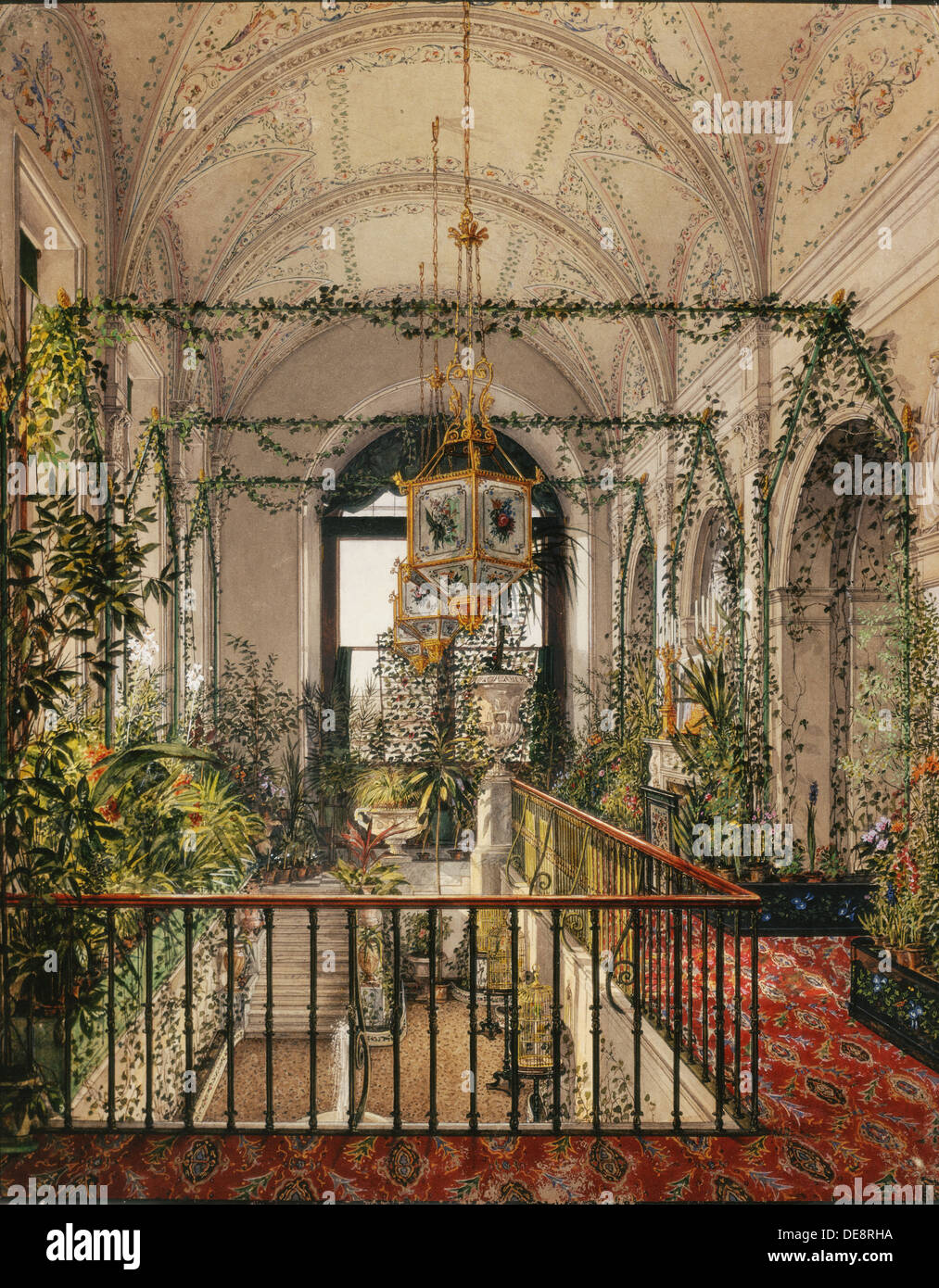 interiors of the winter palace the winter garden of empress stock