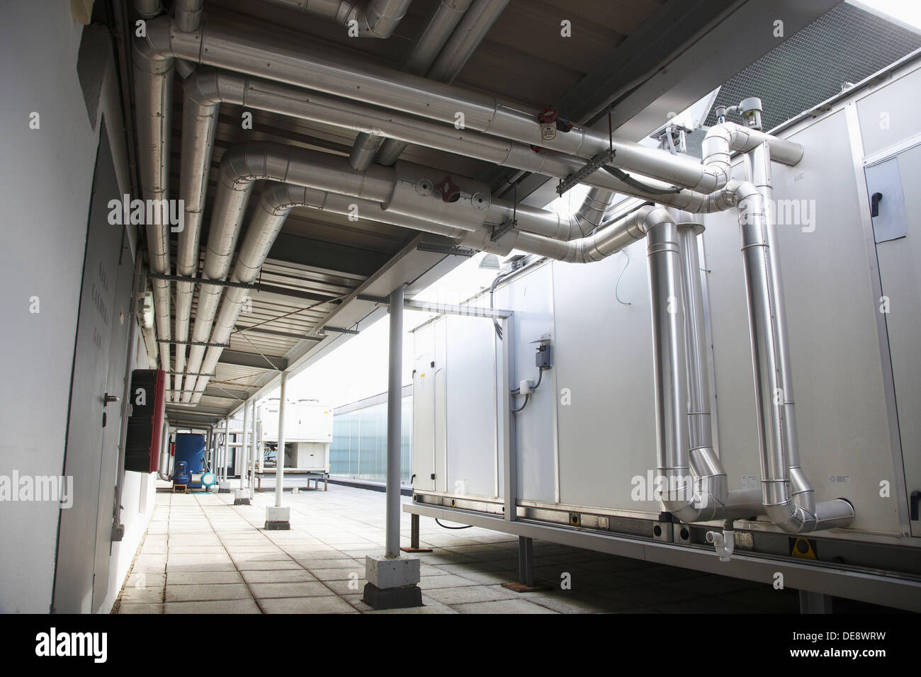 Air conditioning Industrial Installation On Roof Of Building Stock  #464B5C