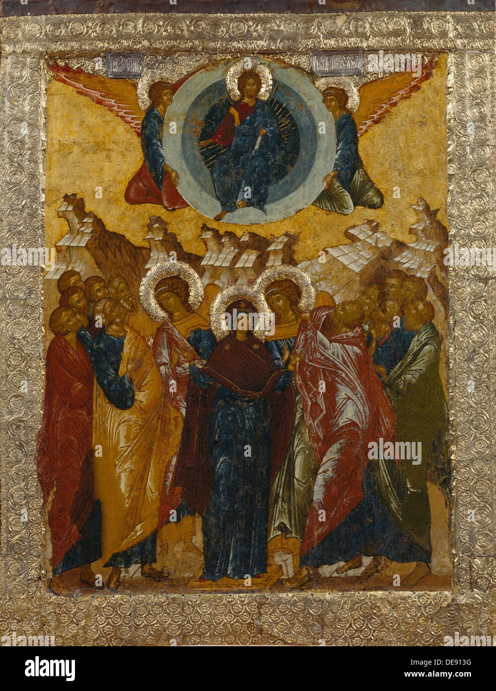 the ascension of christ 1497 artist russian icon stock photo