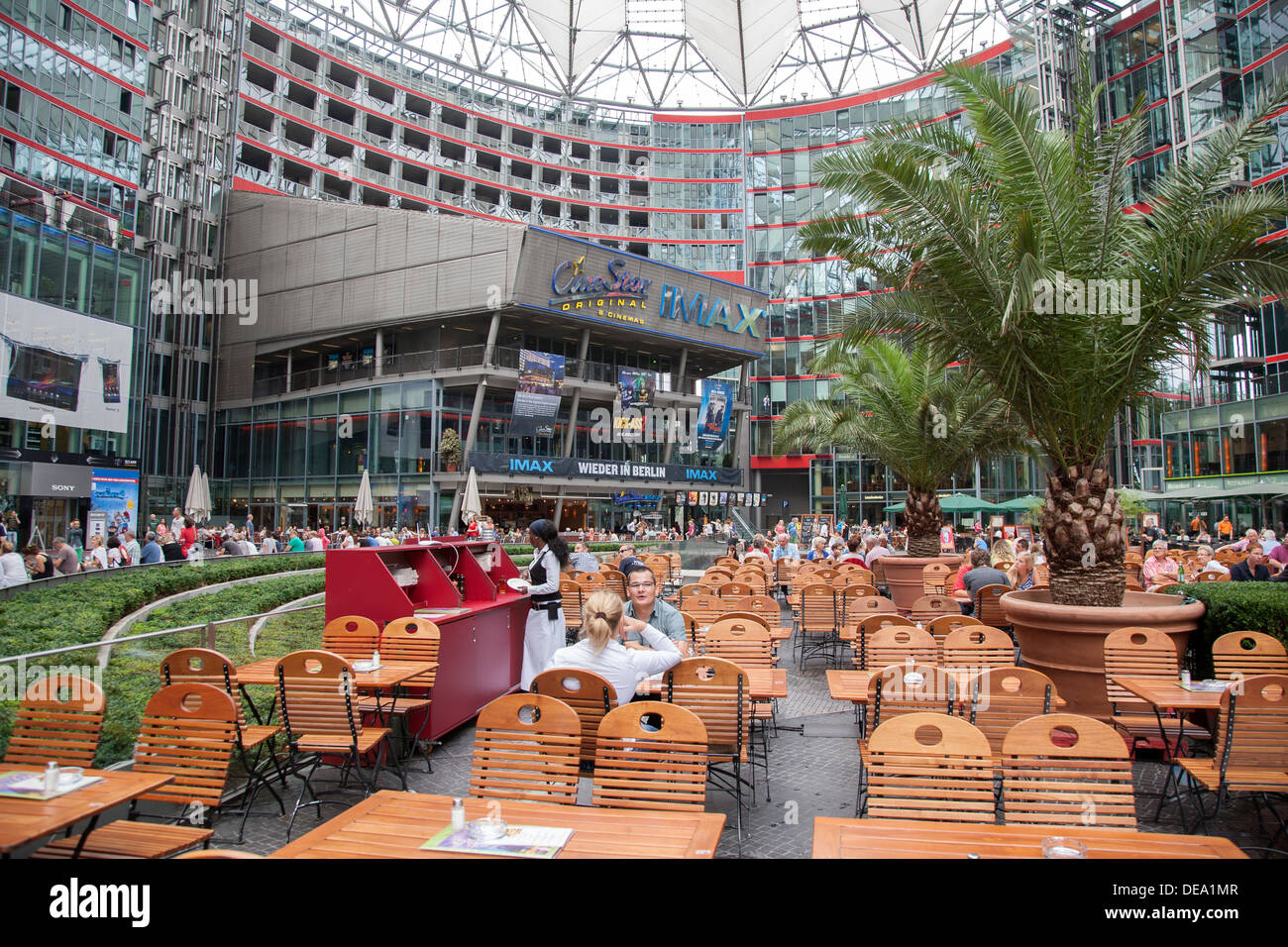 imax cinema sony center potsdamer platz square berlin germany stock photo royalty free. Black Bedroom Furniture Sets. Home Design Ideas
