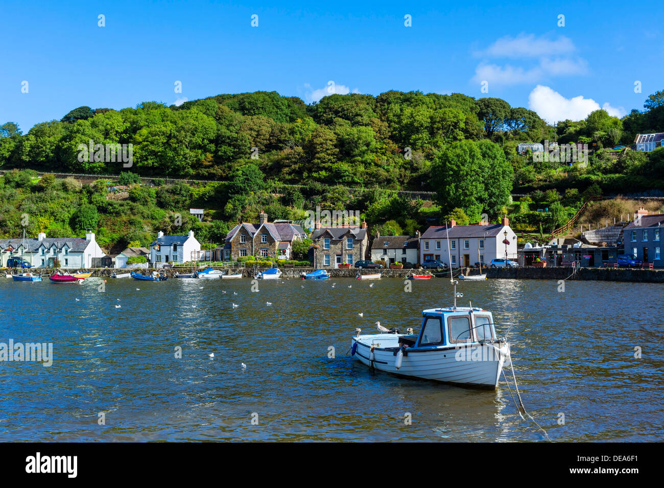 Boats In The Harbour In The Seaside Village Of Lower
