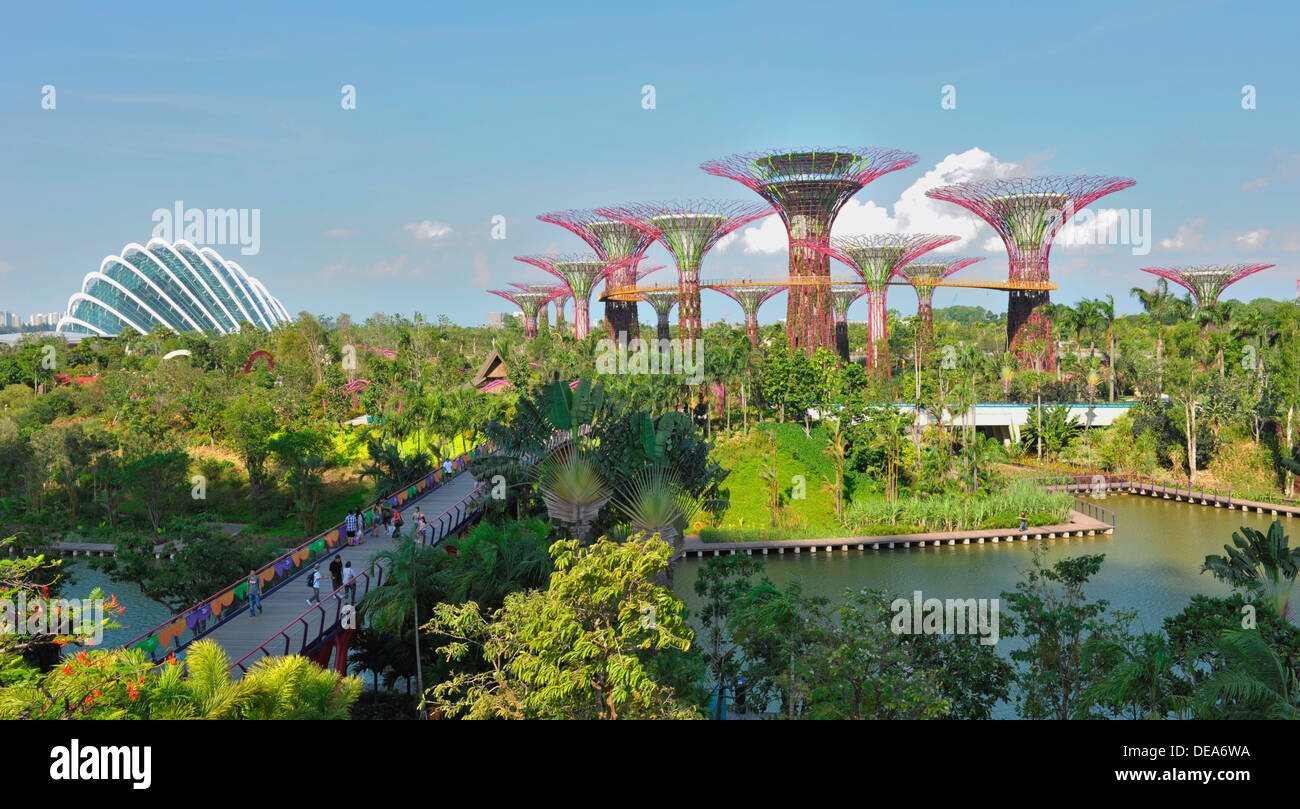 Garden By The Bay Attractions singapore tourist attractions - gardensthe bay stock photo