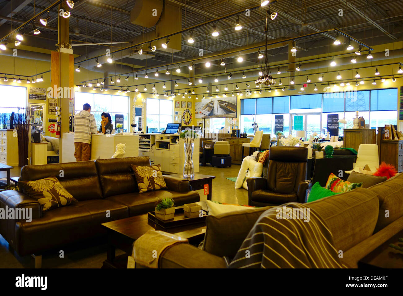 Stock Photo   Urban Barn furniture store in Richmond Hill  Canada. Urban Barn furniture store in Richmond Hill  Canada Stock Photo