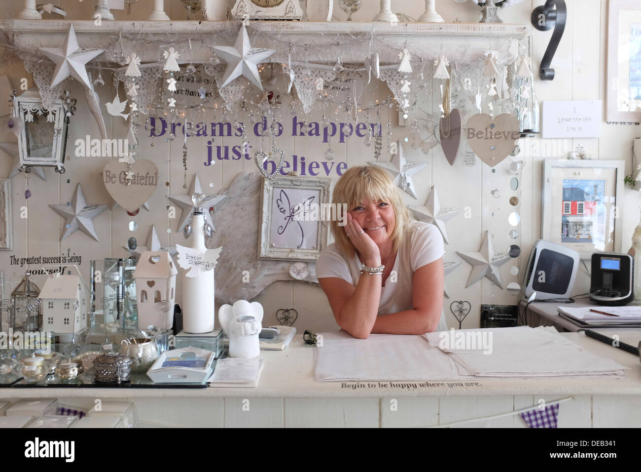 Interior homeware design - Happy Smiling Middle Aged Woman Self Employed Owner Of A Small Interior Design And Homeware Shop