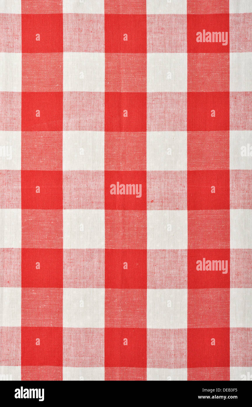 red checkered fabric closeup , tablecloth texture Stock ...