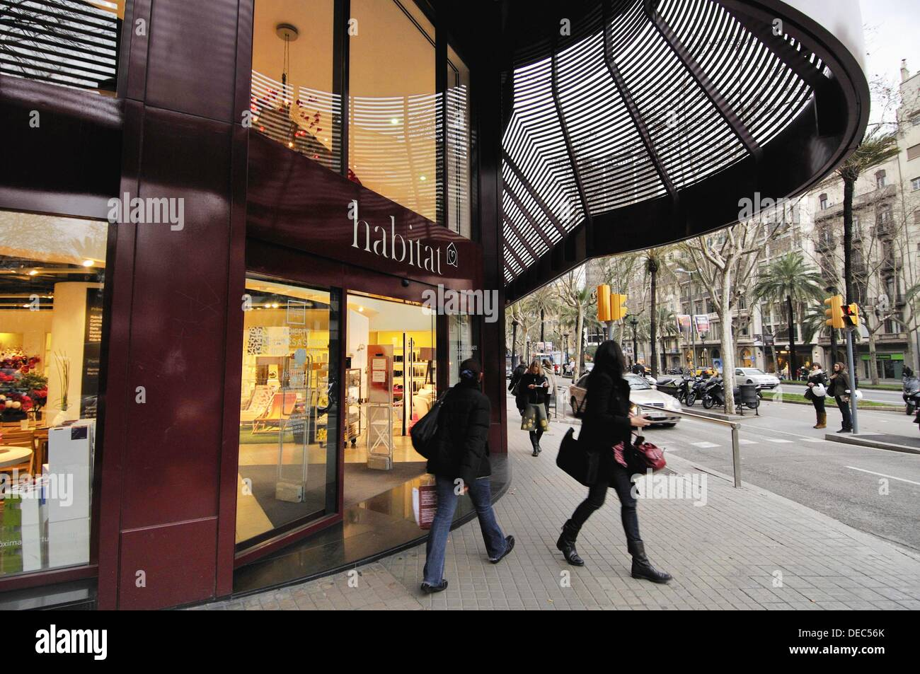 habitat store at avinguda diagonal barcelona catalonia spain stock photo