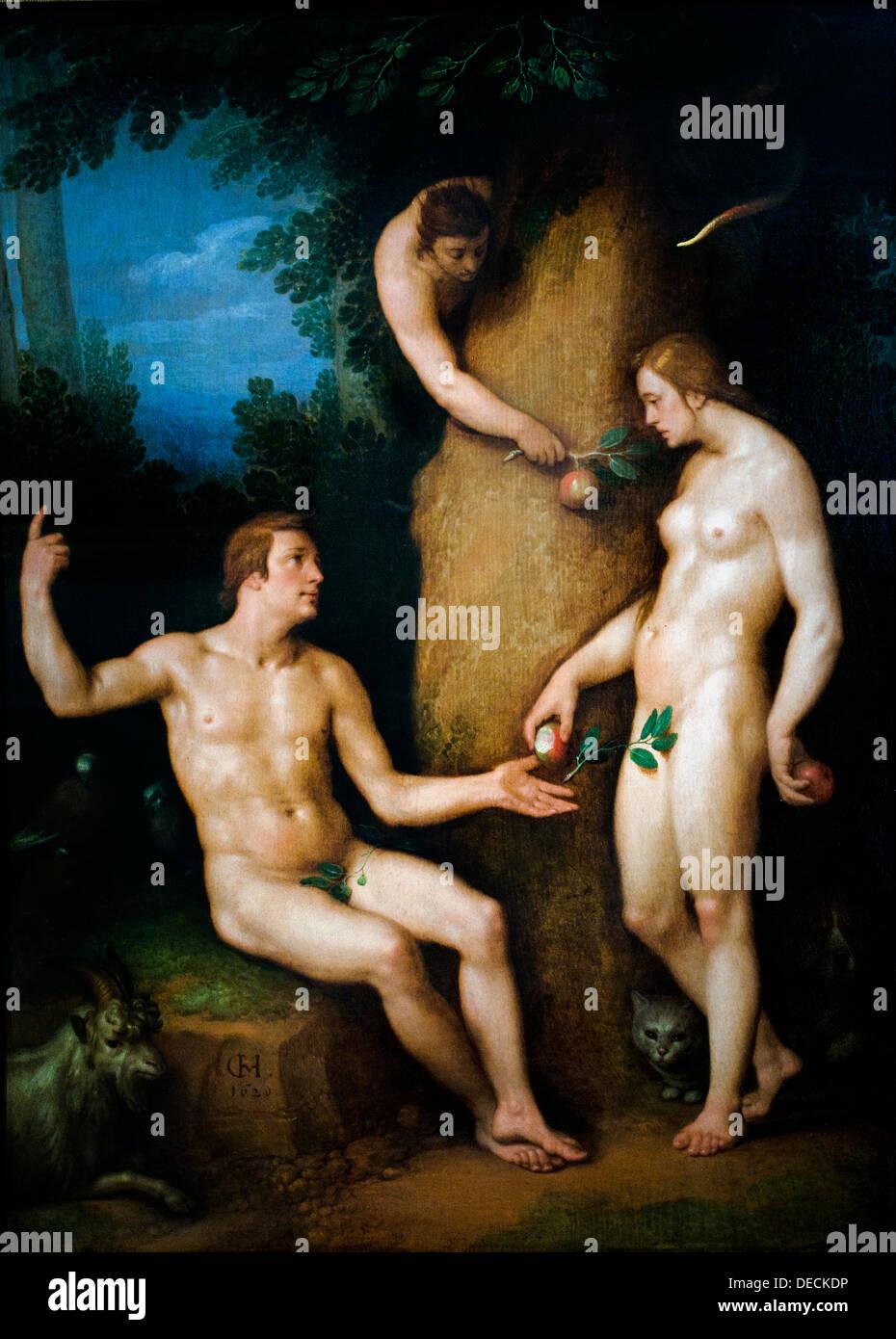 adam and eve 1621 cornelis cornelisz van haarlem 1562 1638 dutch