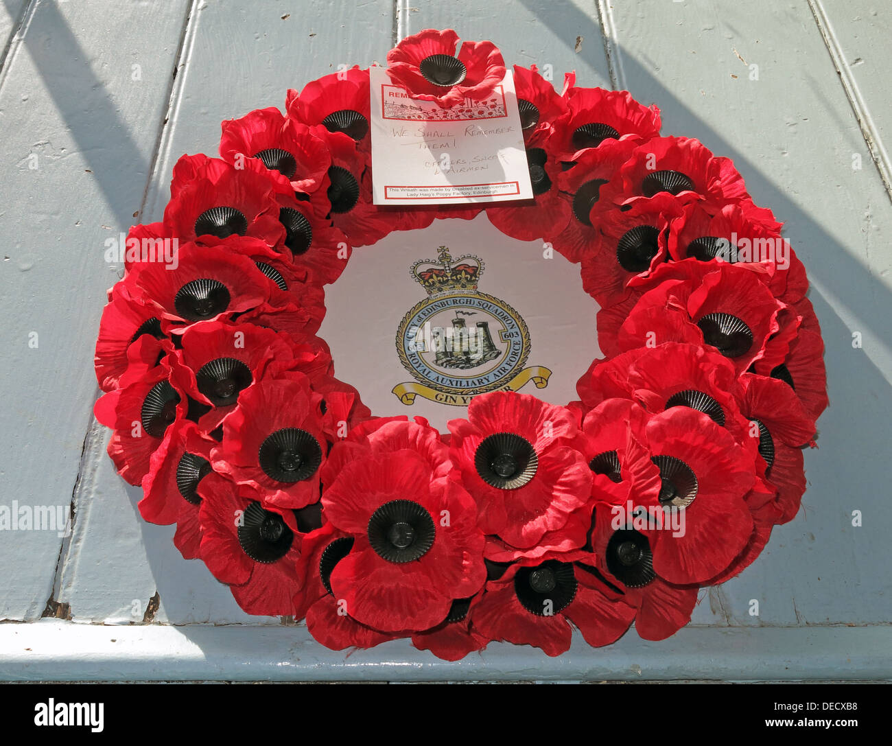 red poppy wreath rememberance day royal auxiliary air force city