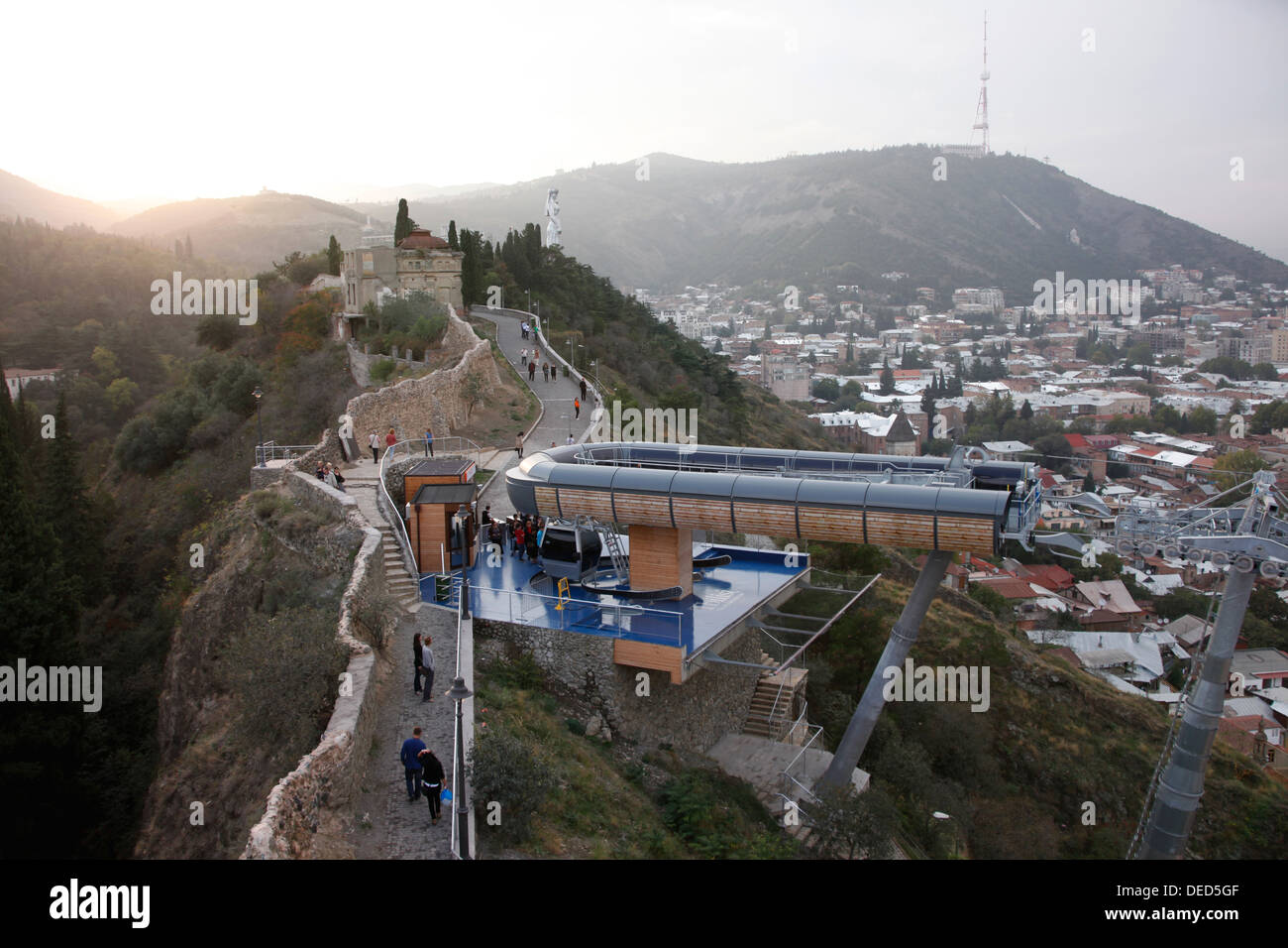 How To Buy A Car In Tbilisi Georgia: Tbilisi, Georgia, Cable Car Between The Rike Park And The