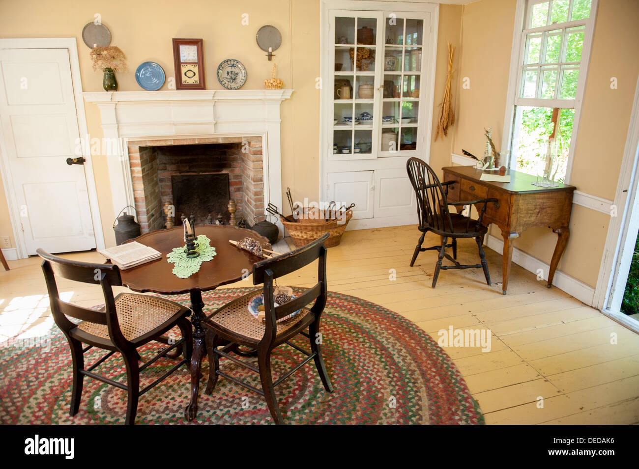 Stock Photo   USA New Jersey NJ N.J. Cape May County Historic Cold Spring  Village Interior Of The Spicer Leaming House Living Room Part 13