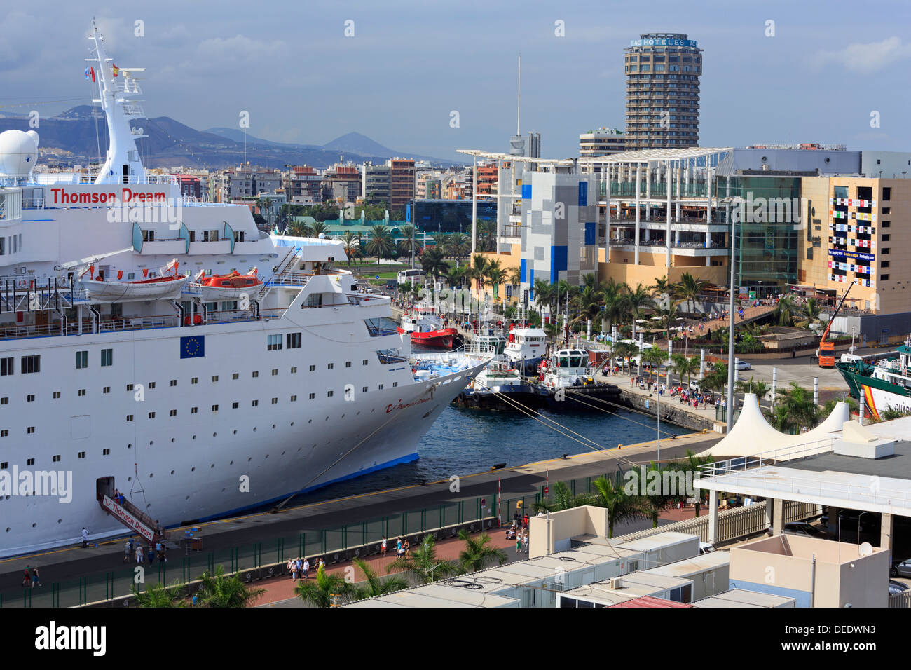Cruise ship in santa catalina port las palmas city gran canaria stock photo royalty free - Port of las palmas gran canaria ...