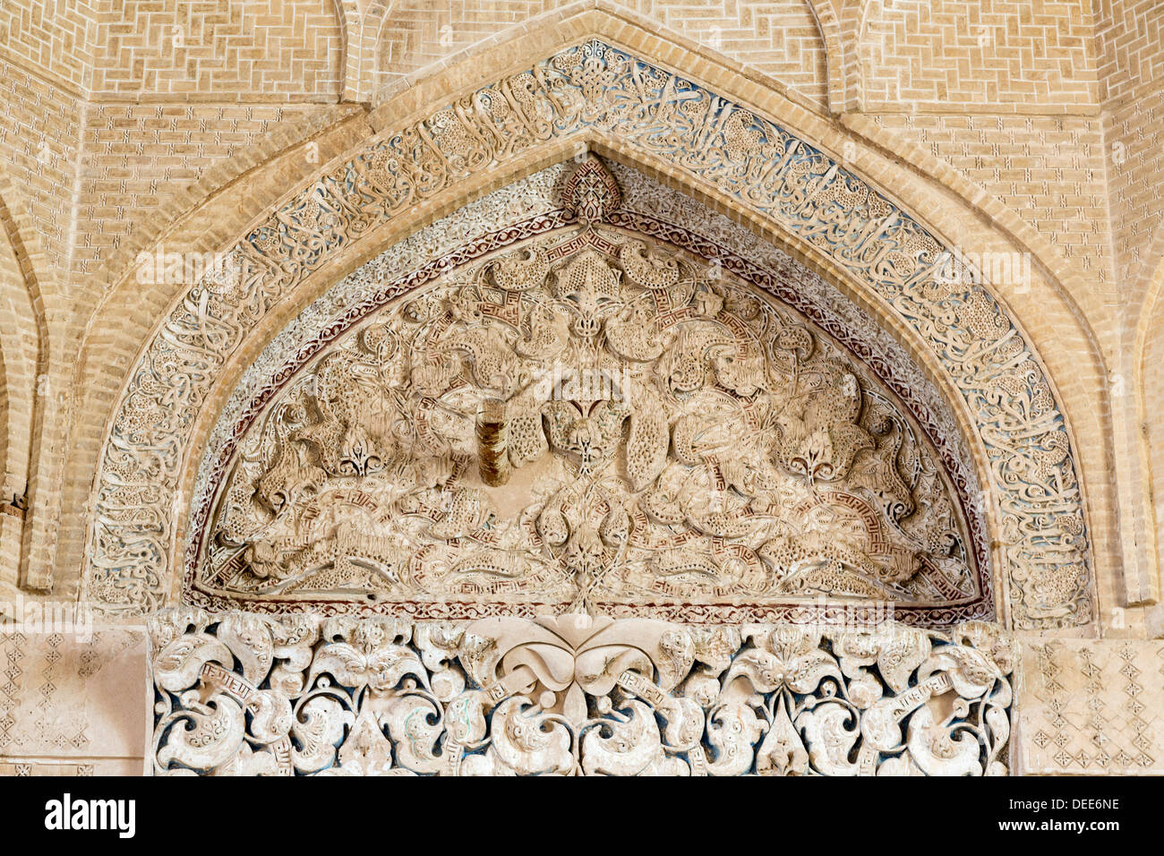 What Is A Mosque Detail: Detail Of Stucco Decoration In Mihrab, Friday Mosque Of