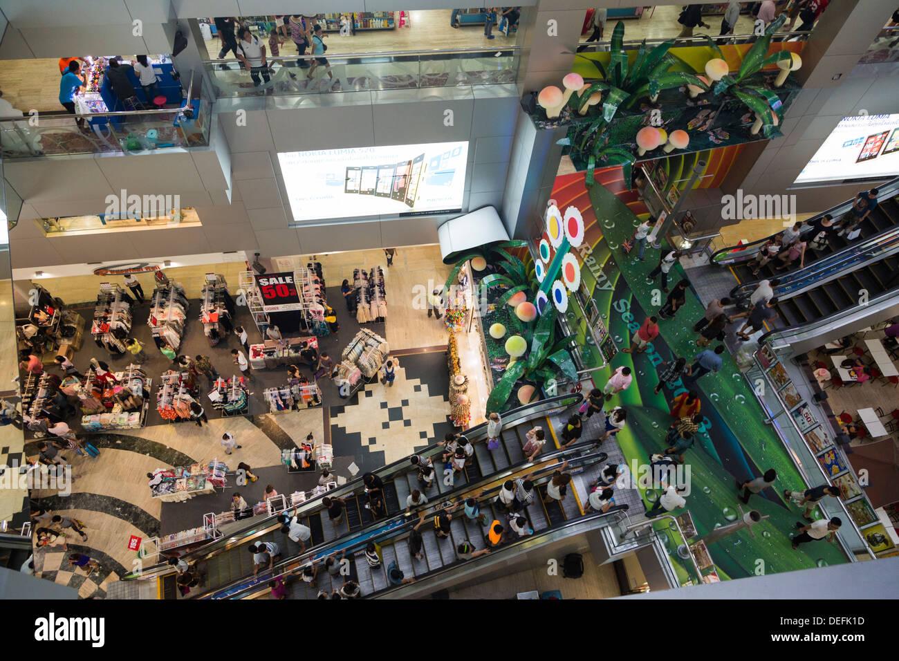 Interior of the MBK shopping mall in Bangkok, Thailand ...