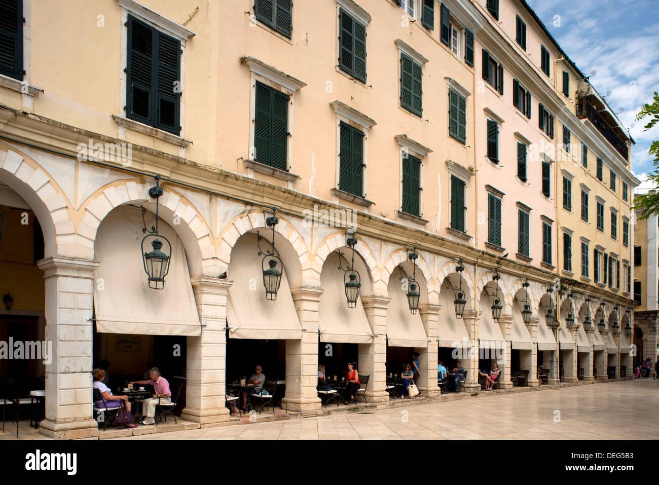 French Architect the liston, a stylish arcade builta french architect in corfu