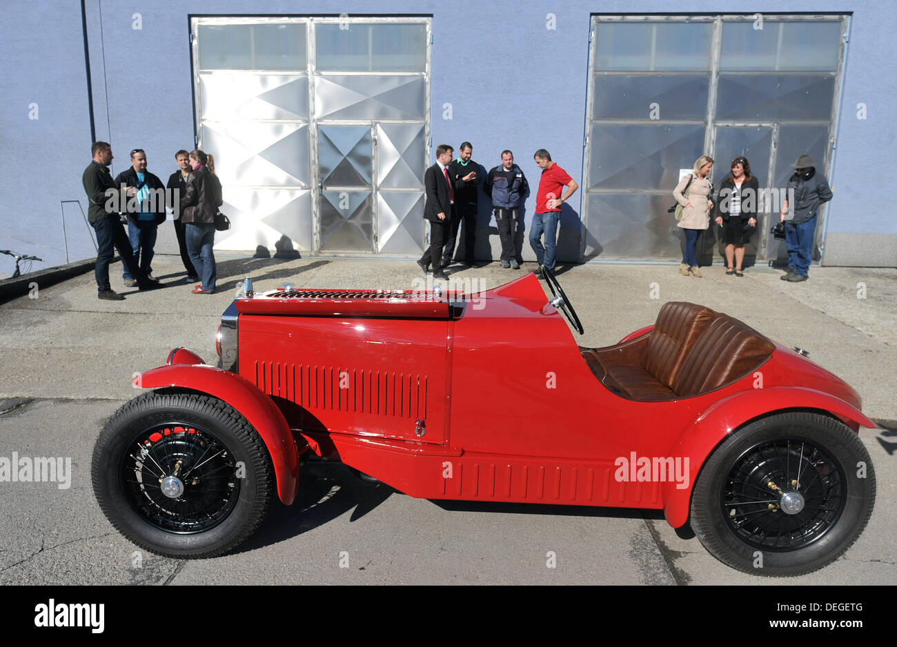 Restored racing car Wikov 7/28, nearly 90 years old, is seen in ...